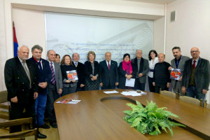 Yerevan Biennale 2011 winners and jury members with  RA Minister and Vice Minister of Urban Development